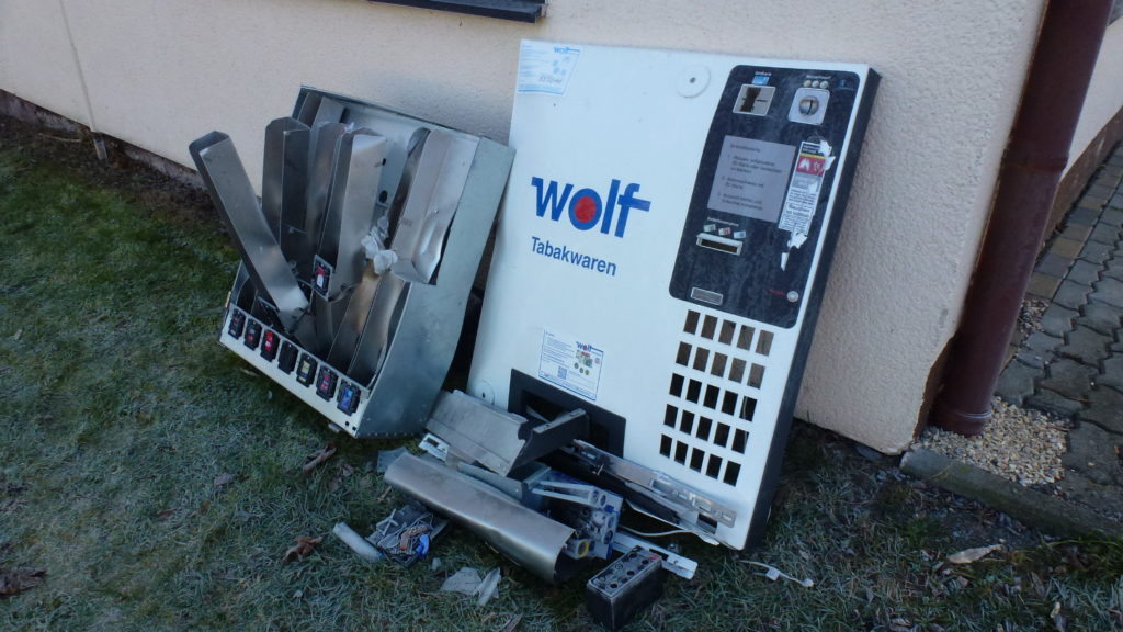 Zigarettenautomat Schwallungen
